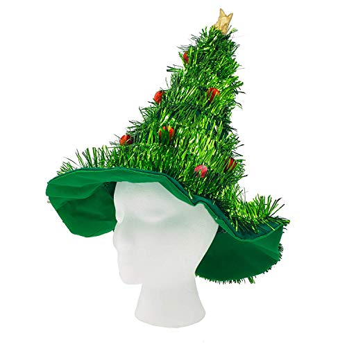 WeGlow - Light Up Christmas Tree Hats - Funny LED Holiday Hat for Kids and Adults Perfect for Ugly Sweater Party - 1 Pack