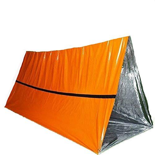 Couverture de Secours de Camping, Couverture Thermique argentée, Sac de Sauvetage portatif, Rideau d'isolation de Sauvetage, 240 * 150 * 90cm, Sauvetage extérieur,