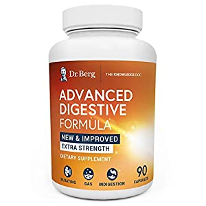Dr. Berg's Advanced Digestive Formula Extra Strength - Contains Both Apple Cider Vinegar Powder + Betaine Hydrochloride - Helps Healthy Digestion Supports Gas and Bloating - 90 Capsules