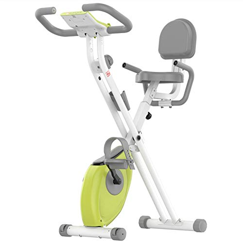 con Resistencia Cinturón Inicio Inicio Entrenador Cardio Bicicletas Gimnasio de Entrenamiento ergómetro máquina Cardio Bicicleta Equipo de Deporte (Color : Green)