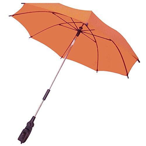 Parapluie pour Poussette, Gosear Parasol pour Poussette, Ombrelle Poussette, Bébé Poussette Voitures UV Protection Parapluie Parasol, 360 Degrés Réglable Poussette Accessoires pour Plus Bébé Poussette Noir