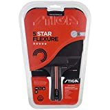 Stiga 5-Star Flexure - Raqueta de Ping Pong Unisex, para Adulto, Negro/Rojo, Talla única