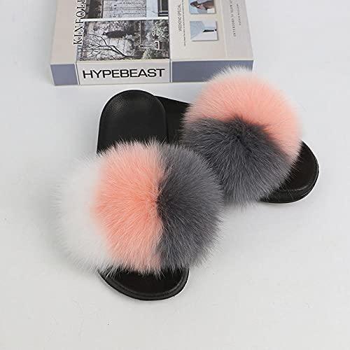 MDCGL Verano Antideslizante Chanclas Sandalias de Felpa de Moda de Verano para Mujer al Aire Libre para niñas Zapatillas Descalzas con Punta Abierta Zapatos de casa súper Suaves Q EU43-44