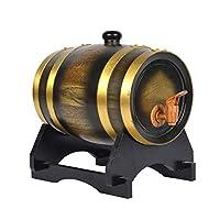Parfait pour stocker vos propres spiritueux, whisky, vin, bière, rhum, tequila, miel, vinaigre ... ou comme décoration pour la maison Petit et assez subtil pour s'intégrer à la plupart des thèmes de la maison, le tonneau à whisky en bois massif est l...