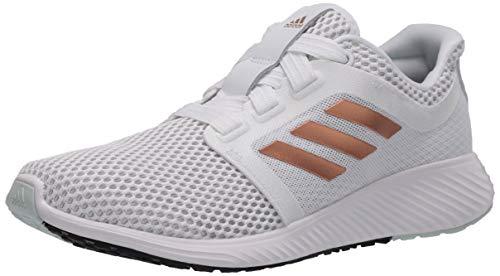 adidas Women's Edge Lux 3 Running Shoe, White/Copper Metallic/Dark Green, 7 M US