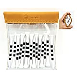 VIVA EAGLE Golf Tees Pouch Bag with Clip, Clear Transparent Squeeze Top Pocket to Store Golf Accessories and Valuables | 15 Bamboo Tees 3-1/4 in.