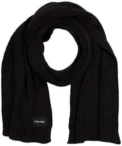Calvin Klein Knitted Scarf 35X180CM Juego de accesorios de invierno, Negro, One Size para Hombre
