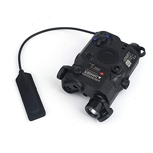 WADSN PEQ Estuche de batería simulado Linterna antorcha de Caza táctica, iluminación PEQ LA-5C UHP y Linterna estroboscópica(Black)