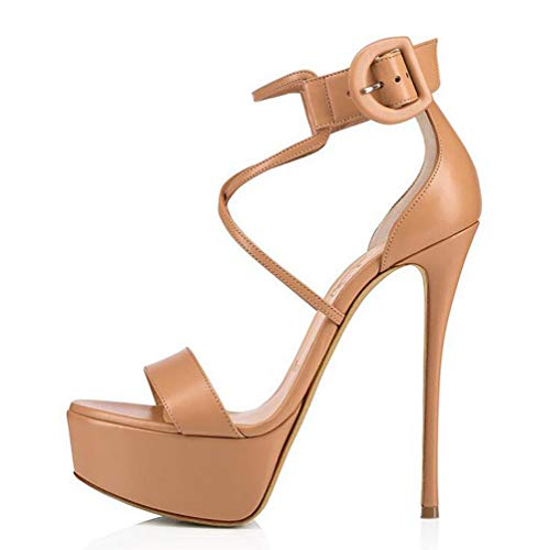BZGG Mujer Cuña Plataforma Sandalias Zapatos de salón Fiesta de Bodas Vestido...
