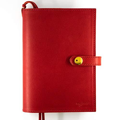 maf pinto (マフ ピント) 手帳カバー レザー 本革 日本製 (05.レッド, A6サイズ (文庫サイズ))