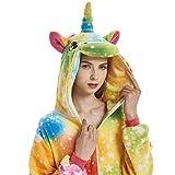 ABYED Einhorn Kostüm Jumpsuit Onesie Tiere Fasching Karneval Halloween Faschingskostueme Erwachsene Cosplay Schlafanzug Maedchen Herren Kinder