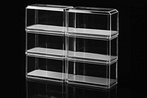 Pioneer Plastics - Vitrina de Coche Modelo Fundido a presión,, acrílico, Escala 1/64, con Almohadilla Adhesiva 3M, con Base espejada, Paquete de Seis