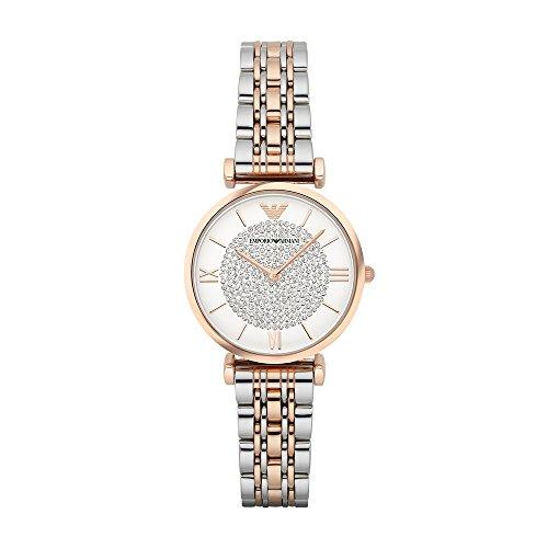 Emporio Armani AR1926 orologio al quarzo da donna, quadrante bianco,...
