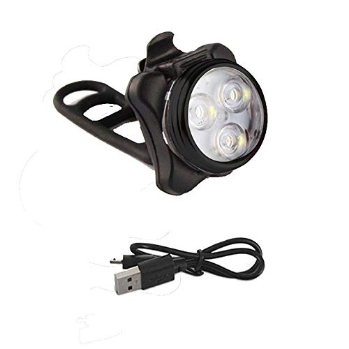 JHBFZXX light bike rechargeable lights headlight mountain Bicycle Lights Mountain Bike Front USB Charging Glare White