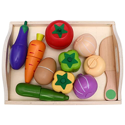 STOBOK 1Set Cutting Vegetables Set, Magnetic Cutting Play Food Set Pretend Play Kitchen Set Toy Kitchen Accessories Simulation Cutting and Cooking Toy for Kids, Style C