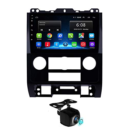 Radio para Coche Android 8.1 de 9 Pulgadas, Manos Libres con Bluetooth 2.5D IPS para Ford Escape 2007-2012, Compatible con GPS, WiFi, USB, Carplay, SWC, TMPS, sin Reproductor de DVD