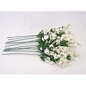 12 Sprays Baby Breath Gypsophila Filler Artificial Silk Flowers 15″ Stem 331 Cream