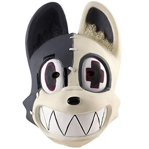 Mesky Hundemaske aus Latex Anime Maske Cosplay Zubehör für Erwachsene