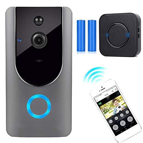 Intercom, video, draadloze intercominstallatie, 720p HD, deurbel, wifi-camera met wifi, nachtzichtmodus, PIR-bewegingsmelder, IP55 waterdicht
