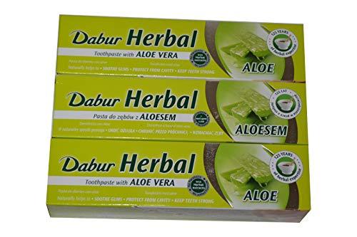 3x Dabur Aloe Vera 100ml Zahnpasta Ayurvedische Kräuter zahncreme Toothpaste 300ml