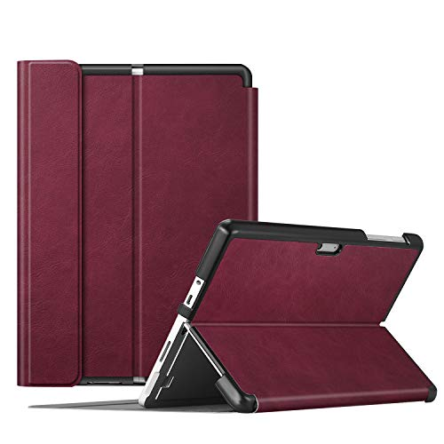 Fintie Protective Case for Surface Go 2 - Multiple Angle Hard Shell Business Cover for Microsoft Surface Go 2 2020 / Surface Go 2018 10-inch Tablet, Compatible with Type Cover Keyboard (Burgundy)