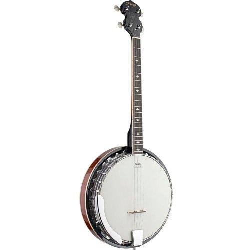 Stagg BJM30 4DL - Banyo de bluegrass (4 cuerdas, estructura de metal)