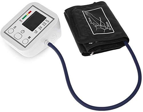 Monitor de presión Arterial Portátil y Brazo Tipo de Banda esfigmomanómetro Pantalla LCD Medición precisa
