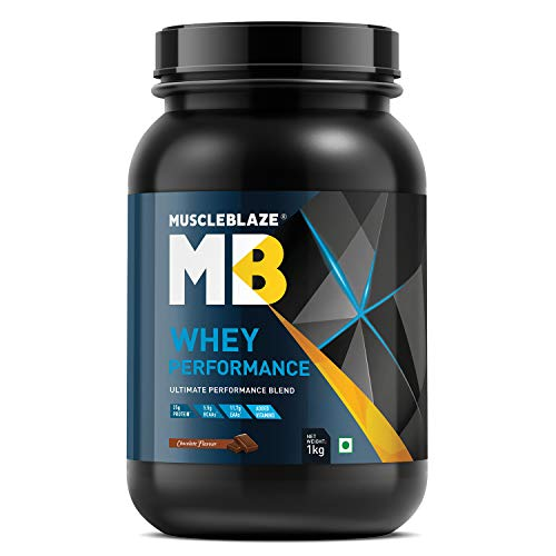 MuscleBlaze Whey Protein Performance (1 Kg / 2.2 lb, Chocolate)