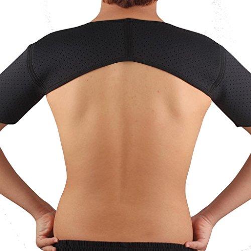 SM SunniMix Neopren Verstellbare Schulterbandage für Rotatorenmanschette Verletzungen,Reduziere Schulterschmerzen passend für Linke und Rechte Schulter - Doppel-Schulter