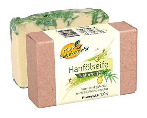 Kopp Naturkosmetik Hanfölseife | vegan | Frischegewicht 100 g | Naturrein | von Hand gefertigt