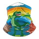 Dinosaurios Rainbow Animals Dinosaur Fleece Cuello Calentador Hombres - Polaina de cuello a prueba de viento Mascarilla para clima frío - Bufanda facial para actividades de invierno al aire libre
