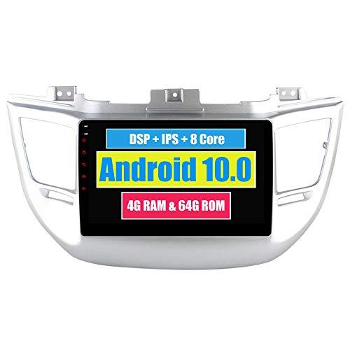 RoverOne 10,2 Pouces Système Android Octa Core Autoradio Lecteur GPS de Voiture pour Hyundai IX35 Tucson 2016 2017 avec Navigation Radio stéréo Bluetooth Mirror Link Full écran Tactile