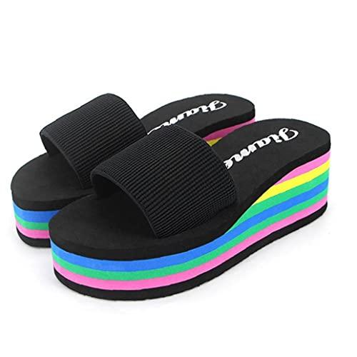 Ruluti 1 De Los Pares del Zapatos Verano De Mujeres No Slip Sandalias Femenino De La Playa Eva Zapatillas De Colores Tamaño De Los Deslizadores 40