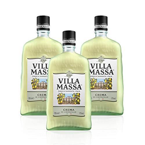 Limoncello Cream Villa Massa of Sorrento (Pack 3 Bottles-satin Finish)