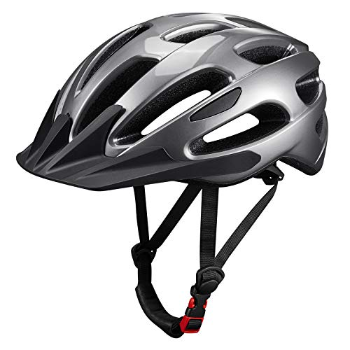 Adult Cycling Helmet ,Ultra Lightweight Bike Helmet with Detachable Visor Road/Mountain Helmets, Sports Safety Protective Bicycle Helmet for Mens Womens Adjustable Size (53 cm - 61cm / 20.9'-24')
