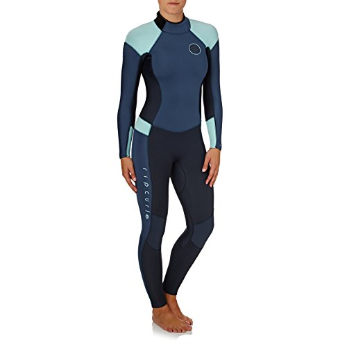 Rip Curl dames Dawn Patrol 4/3MM wetsuit met Back Zip donkerblauw - E5 neopreen in Blindstitched - lijm en Blindstitched