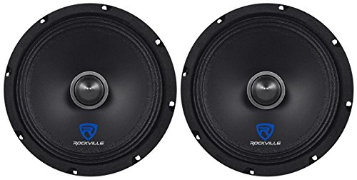 "(2) Rockville RXM88 8"" 500w 8 Ohm Mid-Range Drivers Speakers, Made w/Kevlar Cone"