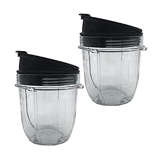 Milkvetch Entsafter ZubehhR Cup Deckel für Entsafter für Nutri Ninja 12Oz Cup 12 Unzen Mixer Jar 2 Pack mit Siegel Deckel