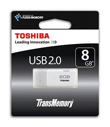 Toshiba Hayabusa Pendrive 08 GB, Chiavetta USB 2.0, 18 Mb/s, Bianco