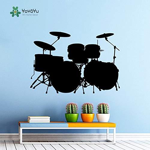 Wandtattoo Vinyl Wall Decor Musik Schlagzeug Schlagzeug Rock Band Art Design Schlafzimmer Retro Poster
