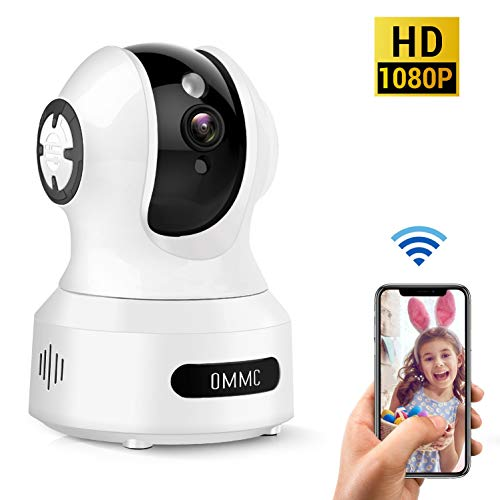 Baby Monitor, OMMC Wireless Home Security Camera 1080P IP Camera with Night Vision/2-Way Audio/Motion Detection, Works with Alexa Camera Cameras Dome Features Photo