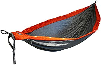 ENO, Eagles Nest Outfitters DoubleNest LED Hammock, Orange/Grey