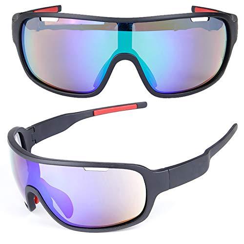 Gafas De Sol Mujer Hombre Gafas De Moda Polarizadas Antideslumbrante Protección UV con Cinco Lentes De Sol para Conducir, Pescar, Andar En Bicicleta, Correr