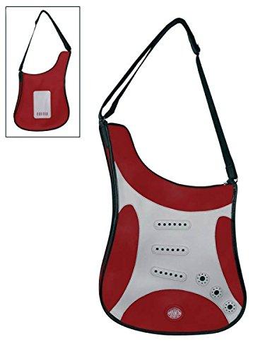 Gaucho SBAG-RD gitaarvorm schoudertas rood