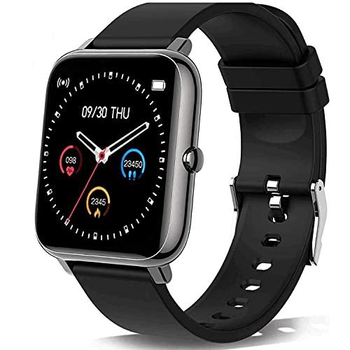 Smartwatch, Orologio Fitness Uomo Donna,Smart Watch con Contapassi Saturimetro (SpO2) Misuratore Pressione Sonno Cardiofrequenzimetro da Polso, Fitness Tracker Sport Impermeabile IP68 per Android iOS