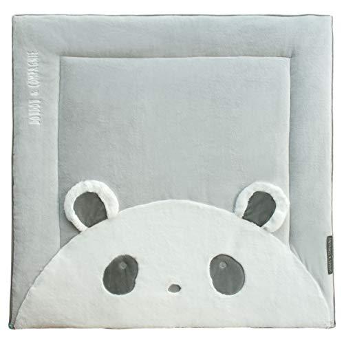 Doudou et Compagnie Tapis de parc 100 x 100 cm - Collection Tapidou - motif Panda Blanc Cassé DC3063