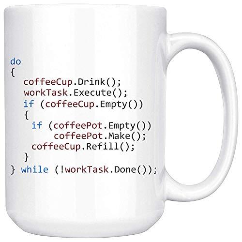 Ol322ay - Programador divertido, taza de café, informática, programador de ordenador, con código divertido