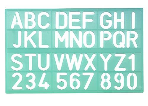 Linex, 100412307, set van 30 lettersjablonen, 8530, letterhoogte 30 mm, cijfersjablonen, cijfers en cijfers