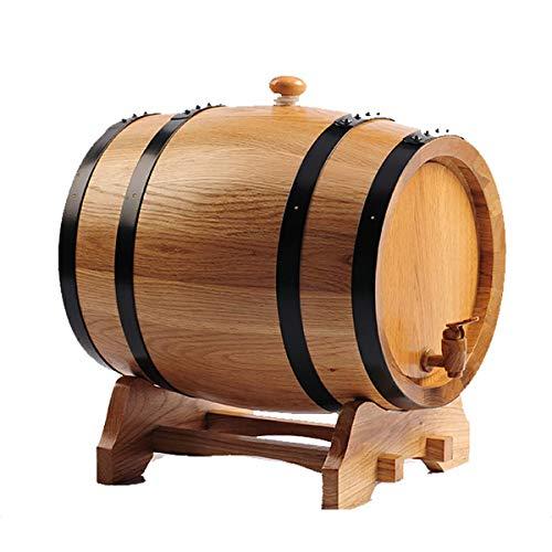 YLKCU Barril De Vino De Madera Barril de Roble de 50L Barril de Madera Dispensador de Barril de Whisky y Cerveza de Barril Barril de Madera, Barril de Roble Barril de Madera para Almacenamiento