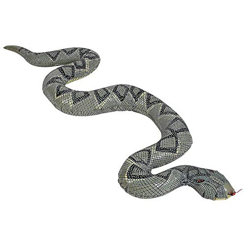 Kslogin - Juguete hinchable de PVC, 120 cm, serpiente hinchable, juguete aterrador para jardín, granja, piscina, decoración de Halloween